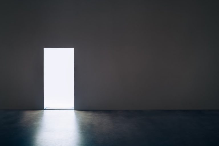 a door in the middle of a wall