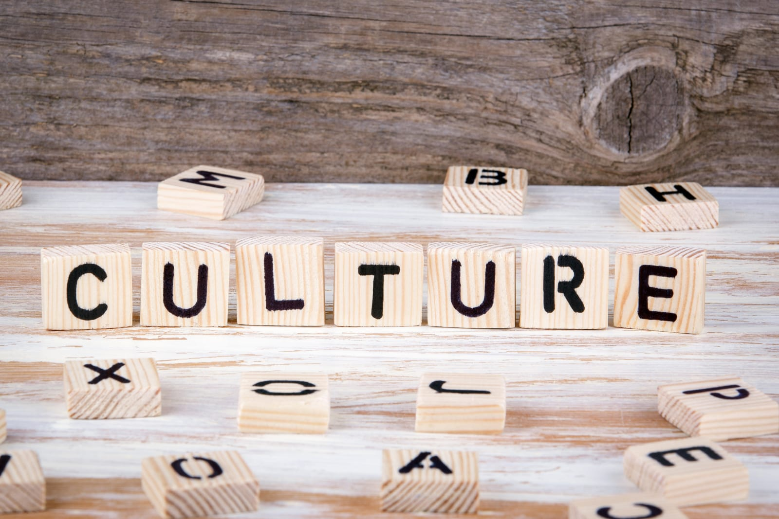 culture spelled out in wood letters